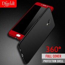 360 Full Protection Shockproof Hard Case for OPPO R7 R7S R9 R9S R11 R11S Plus Back Cover F7 A3 + Glass