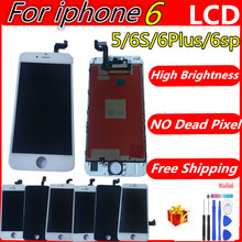 цены на Grade AAA+++ For iPhone 6 6S Plus  6 P LCD With 3D Force Touch Screen Digitizer Assembly For iPhone 5 Display No Dead Pixel  в интернет-магазинах