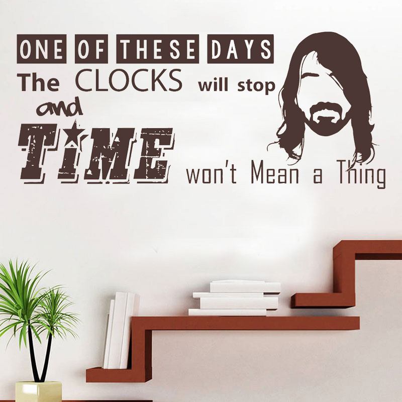 Foo Fighters, Dave Grohl, Song Lyrics Quote, 'Time Won't Mean A Thing', Vinyl Wall Art Sticker, Mural, Decal. Home Decor H577 image
