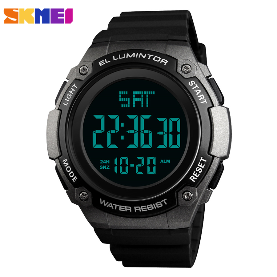 SKMEI Mens Watches Top Brand Luxury Fashion Electronic LED Digital Watch Men Waterproof Outdoor Sport Clock Men's Wristwatches
