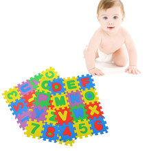 36pcs/set Baby Colorful Puzzle Kid A-Z Alphabet Letters Numeral Foam Mat Play Mats Infant Early Mini Math Educational Puzzle(China)