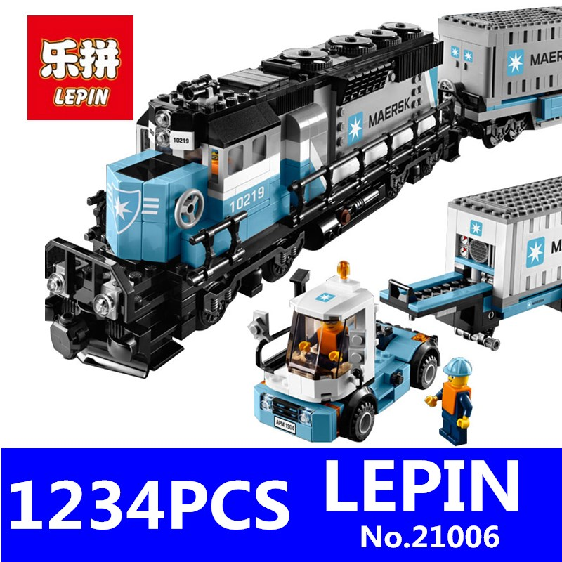 Genuine Technic Ultimate Series LEPIN 21006 1234pcs The Maersk Train Set Educational Building Blocks Bricks Children Toys Gift lepin 22002 1518pcs the maersk cargo container ship set educational building blocks bricks model toys compatible legoed 10241