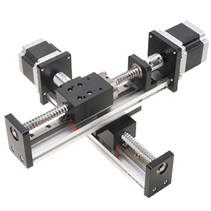 FLS40 Robotic arm rod ball screw linear rail guide slide table actuator for cnc XY motion module parts motorized router kits belt driven linear motorized actuator linear actuator servo motion cnc