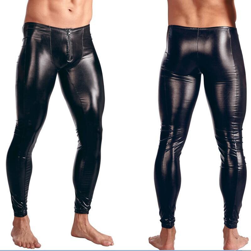w930930 5.36 m-xxl (3)  Horny Males Skinny Fake PU Leather-based Pants Wetlook Black Trousers Stage Efficiency Zipper Entrance Leather-based Pants Horny Vinyl Leggings HTB1B9KJck7mBKNjSZFyq6zydFXa4