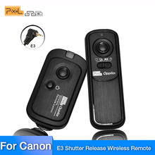 Pixel Oppilas RW-221 E3 Беспроводной пультом дистанционного управления Управление для цифровых зеркальных фотокамер Canon 80D 100D 700D 1200d 450D 550D 60D 600D 650D Pentax Камера