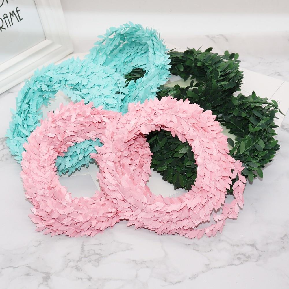 2m-artificial-flowers-rattan-Leaf-Nylon-Iron-Wire-DIY-wreath-Accessory-For-Wedding-Car-Decoration-garland