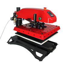 HTT3805-4050 manual pyrograph T-shirt printing machine 40 * 50 cm for sale (double hot plate, LCD table)