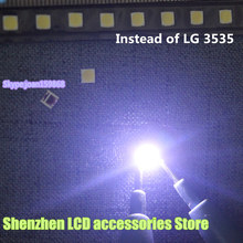 "150 יח\חבילה עבור אלטרנטיבי LG SMD LED 3535 6 V קר לבן 2 W עבור LG32 ""/LG42"" /LG47 ""גדול עדשת LED LCD טלוויזיה"