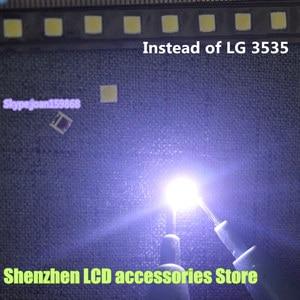 "Image 1 - 150 יח\חבילה עבור אלטרנטיבי LG SMD LED 3535 6 V קר לבן 2 W עבור LG32 ""/LG42"" /LG47 ""גדול עדשת LED LCD טלוויזיה"