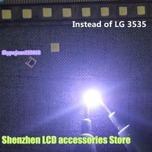 """150 قطعة/الوحدة ل البديل LG SMD LED 3535 6 V الباردة الأبيض 2 W ل LG32 """"/LG42"""" /LG47 """"كبيرة عدسة LED تلفاز LCD"""