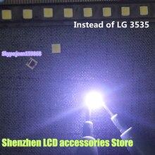 "150PCS/Lot  FOR  alternative  LG SMD LED 3535 6V Cold White 2W For LG32 ""/ LG42"" / LG47 ""large lens LED LCD TV"