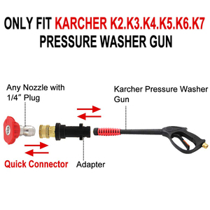 Image 4 - Compatible Pressure Washer Gun Adapter, Only Replacement for Karcher K2, K3, K4, K5, K6, K7, 1/4 Quick Connect
