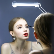 Portable Make up Light Mirror LED Lamp 3 level dimming Touch switch LED Vanity Bathroom Stainless Lighting Kit with Carrying Bag