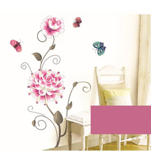 3D flower wall stickers home decor removable living room furniture decals adhesive bedroom pictures