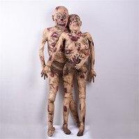 Стоя мужчин/женщин зомби украшения-ужастики для хеллоуина кровавый реквизит тело призрак моделирование сухой труп модель жуткие тухие люд...