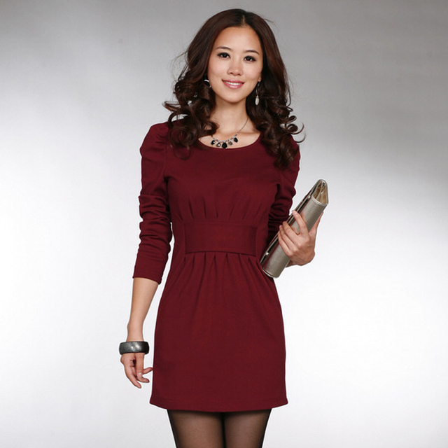 2012 New Hitz ladies fashion temperament dress Slim Korean sub