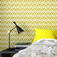 Wave Style horizontal Striped Wallpaper Blue Geometric Wall Paper Roll Grey Graphic Trellis Nonwoven Wallpaper For Walls