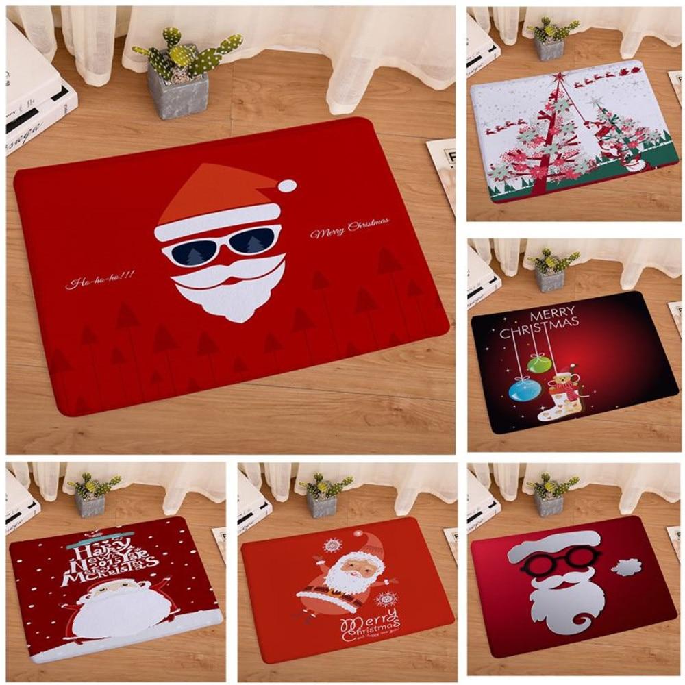 Merry Christmas Door Mat Santa Claus Flannel Outdoor ...