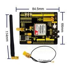 Бесплатная доставка! Keyestudio щиты для Arduino SIM900 GSM GPRS модуль беспроводной модуль с провод-удлинитель
