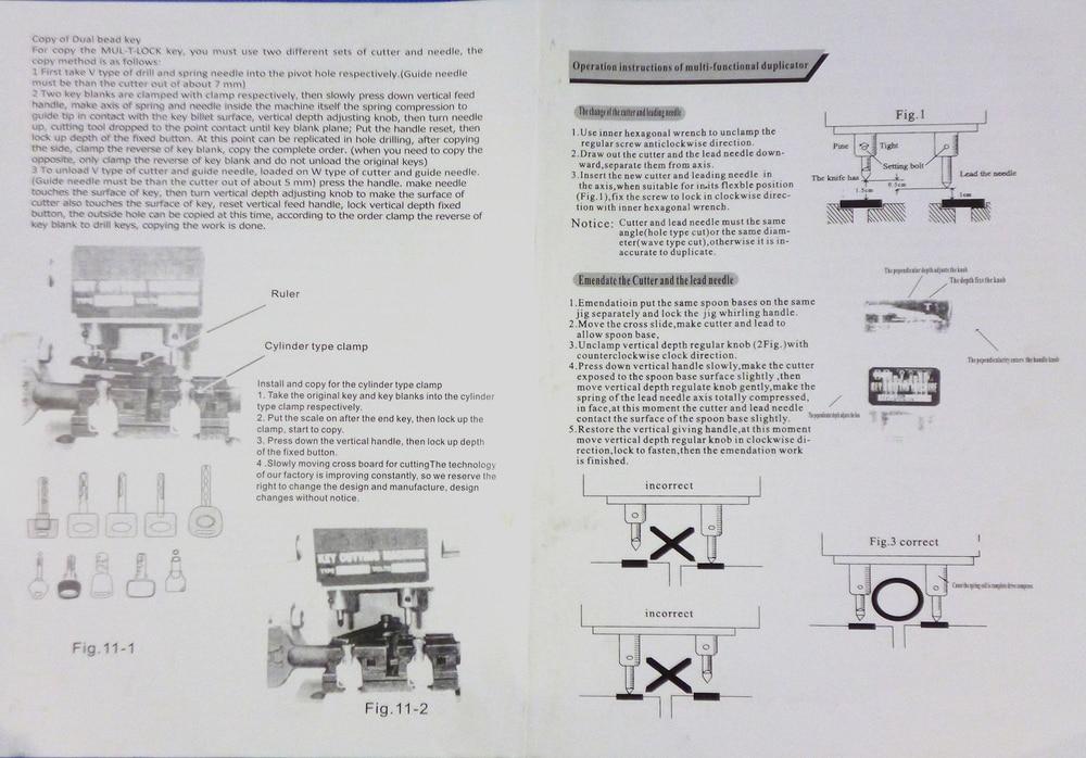 Defu BW-368a Univerzális Kulcsvágógép Lakatos - Kézi szerszámok - Fénykép 5