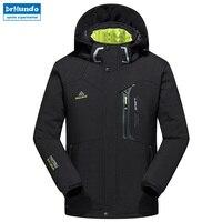 New Winter Men soft shell hiking jacket ski waterproof jacket windproof outdoor Plus size hiking camping jacket classic coat