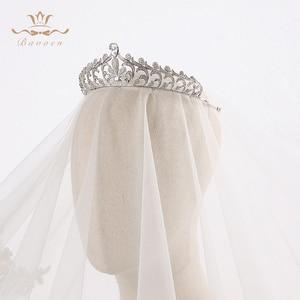 Image 2 - Bavoen elegante claro repleto de circonita novia coronas Tiaras cristal diademas de boda novia pelo accesorios de joyería