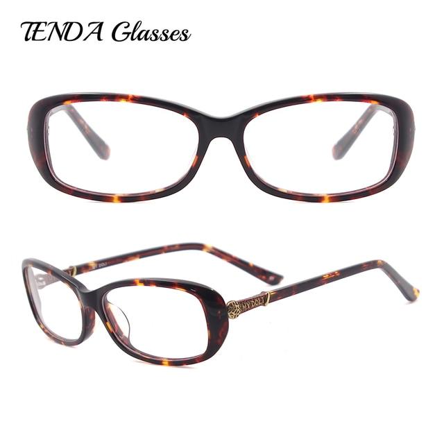 Mulheres Designer de Óculos De Prescrição Óculos de Armação Dos Óculos De  Acetato Oval 29830de30a
