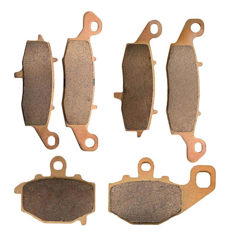 Motorcycle Parts Copper Based Sintered Motor Front & Rear Brake Pads For Kawasaki Z750 Z 750 2004 Brake Disk sintered copper motorcycle parts fa252 front brake pads for yamaha fzs 600 fazer 98 03