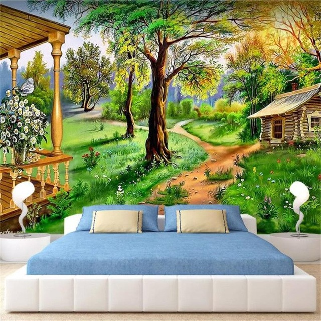 Custom Photo Wallpaper Hd Wallpaper Oil Painting Country Landscape Background Painting Living Room Mural Bedroom Studio Wallpape Hd Wallpaper Photo Wallpaperwallpapers Hd Aliexpress