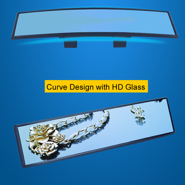 General Car Rearview Mirror Planar Large Sucker Interior Baby Reversing Wide Angle HD Curved Mirror 1PC 4