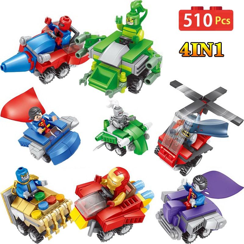 LegoINGLYS Movie Action Figures Super Hero Batman Iron Man 4 in 1 Building Blocks Bricks Kids Baby Toys For Child салфетки для поверхностей defender cln 30103 pro 30103