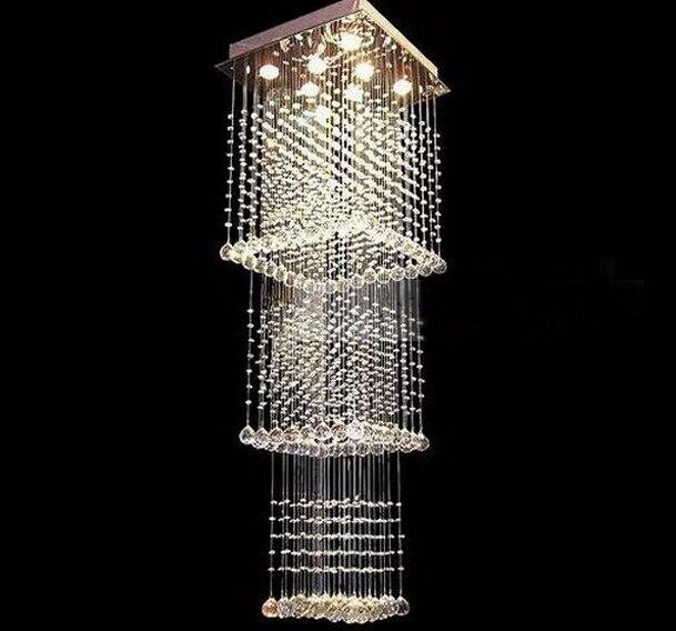 modern lighting sale lustres de lamparas crystal square chandelier led light stairway chandeliers free shipping in chandeliers from lights lighting