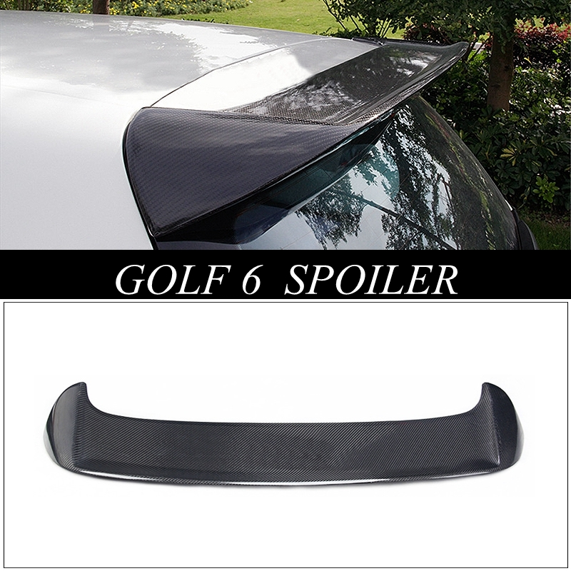 MONTFORD Carbon Fiber Rear Lip Spoiler Trunk Boot Wing Car Styling For Volkswagen VW <font><b>Golf</b></font> 6 Standard Non GTI <font><b>R</b></font> 2010 <font><b>2011</b></font> 2013 image