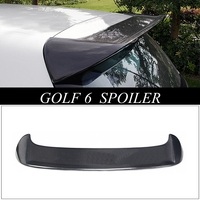 MONTFORD Carbon Fiber Rear Lip Spoiler Trunk Boot Wing Car Styling For Volkswagen VW Golf 6 Standard Non GTI R 2010 2011 2013