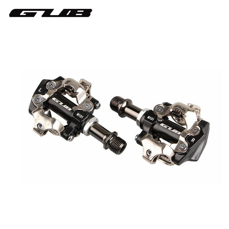 GUB M101 alliage d'aluminium vélo pédales vtt route roulement pédales Chrome molybdène acier vélo partie auto-bloquant vélo pédales