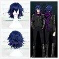 Free Shipping Tokyo Ghoul Kirishima Ayato Cosplay Straight blue Short Wig Hair 30cm NEW +a wig cap