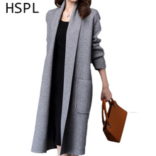 Cardigan Women 2017 Women Cardigans Knitted Fashion Sweater Long Jumpers Open Stitch With Long Sleeve Gilet Femme Manche Longue