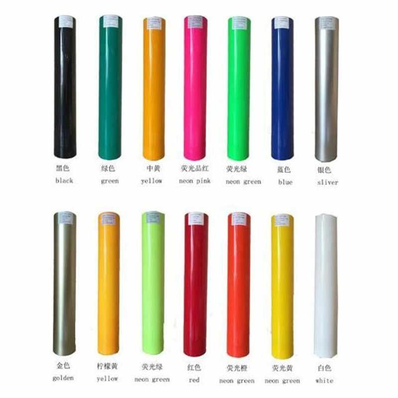 0.5x1 m/rulo 15 farklı renk PU vinil filmi T shirt için yüksek kaliteli ısı transferi vinil giyim için demir on vinil