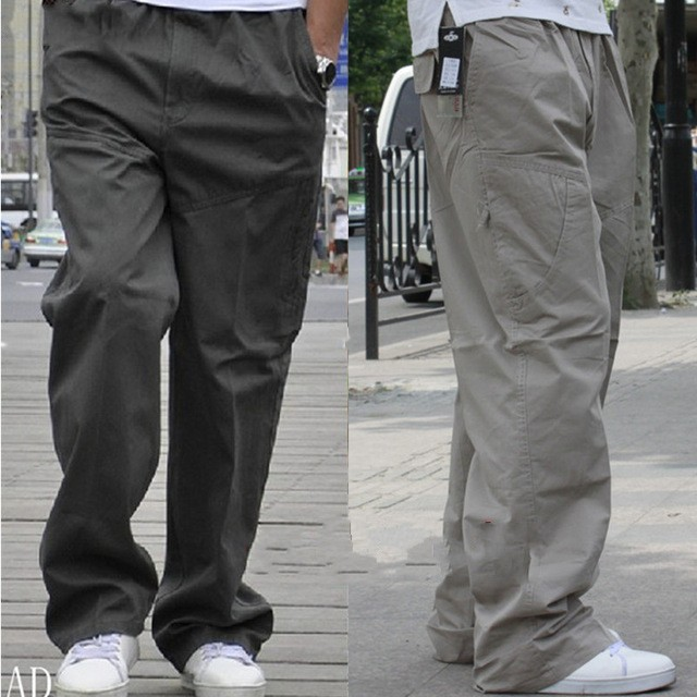 Free Shipping  Summer Thin Male Cargo Pants Casual Multi-pocket Tooling Plus Size 4xl 5xl 6xl 3xl Casual Pants Trousers