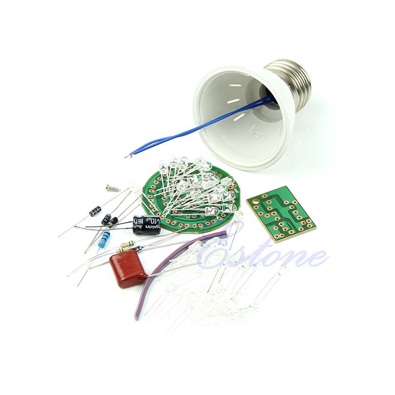 Energy-saving 38 Leds Lamps Diy Kits Electronic Suite 2.4w 170-210lm Pbt Flame Retardant Shell Ac 85v-277v Punctual Timing Electronic Components & Supplies
