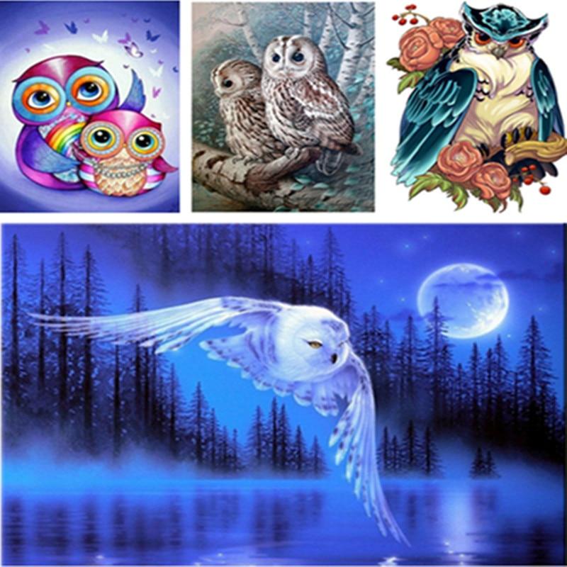 3d Fai Da Te Diamante Pittura Animali Uccelli Eagles Punto Croce Quadrata Strass Immagini Di Cristalli Di Diamante Del Ricamo Completa Gear