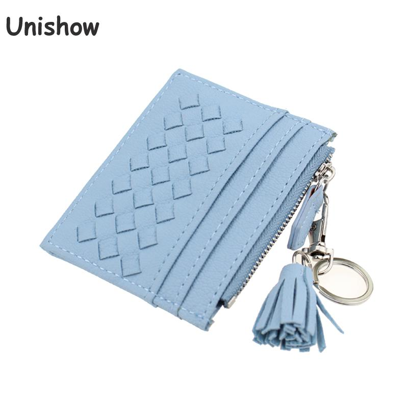 Unishow Tassel Knitting Credit Card Holder Women Small Card Wallets ...