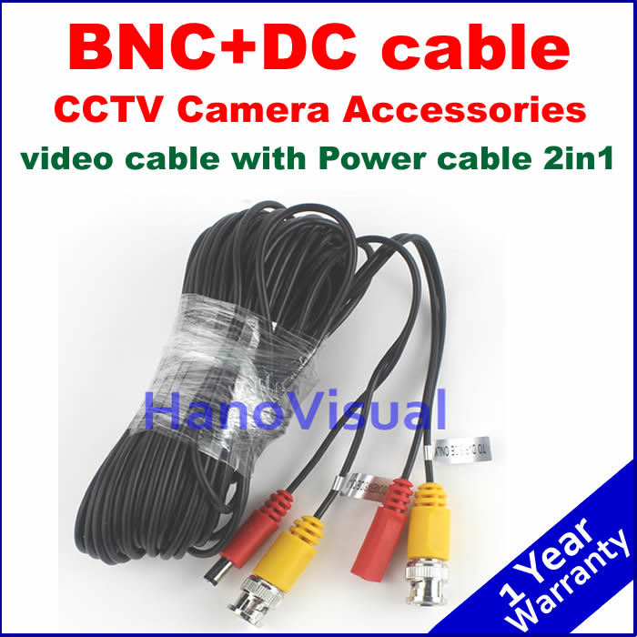 Hot Sale! Accessories video cable+DC cable 2in1 for Surveillance system Power and video signals transmitting in one cable avantika fadnis harmonics in power system
