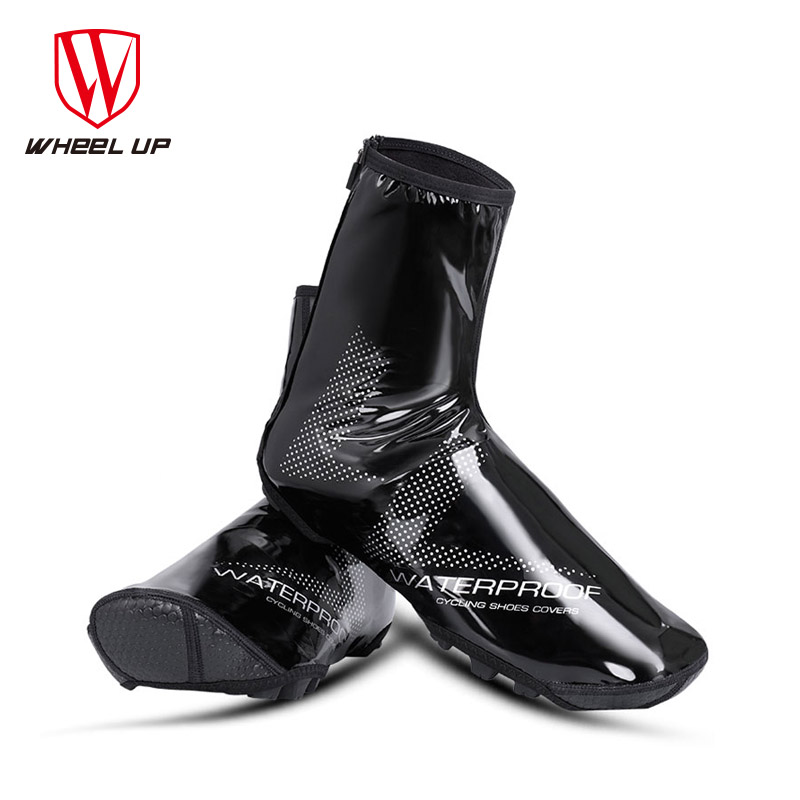 WHEEL UP Waterproof Reflective Cycling Shoe Covers Thermal Windproof Bicycle Overshoes MTB Road Bike Rainproof Sneaker Cover dayupai motorcycle bicycle rainproof shoe covers black white size 38 39
