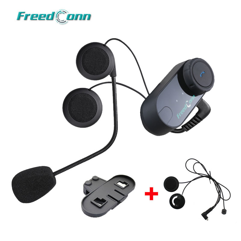 FreedConn T-COMVB Original Interphone Bluetooth Motorcycle Motorbike Helmet Intercom Headset+Extra Soft Earpiece+Bracket 2pc freedconn t comvb 800m motobike wireless bt interphone earphones full duplex motocycle bluetooth helmet intercom headset fm