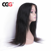 CGG Straight 4*4 Lace Frontal Human Hair Wigs Indian Non Remy Human Hair 8 22 Inch For Black Women Natural Color Medium Brown