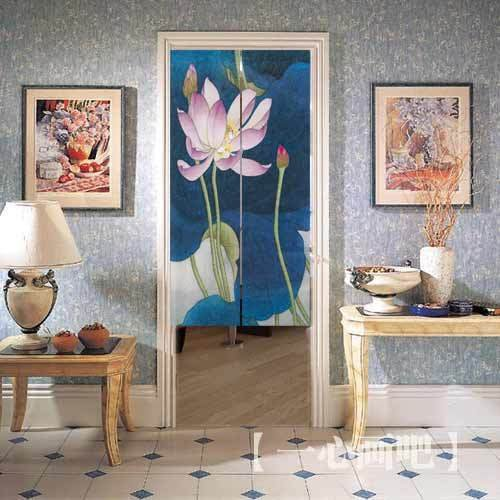 Free Shipping Customized Hanging Screen Door Curtain Divider Valance 80cm  X1 50cm With Artistic Painting Style