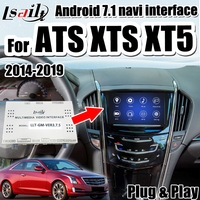 Android 7.1 GPS Navigation Box for Cadillac ATS CTS XTS XT5 2014 2018 multimedia video interface support Android auto by Lsailt