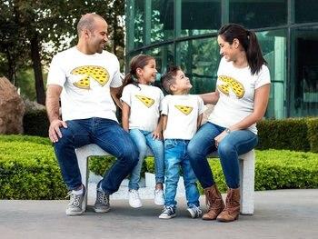 bd91905f3 BKLD diseño de la batería parejas T camisa familia camisetas moda camisetas  de algodón de mamá papá hijo hija camiseta