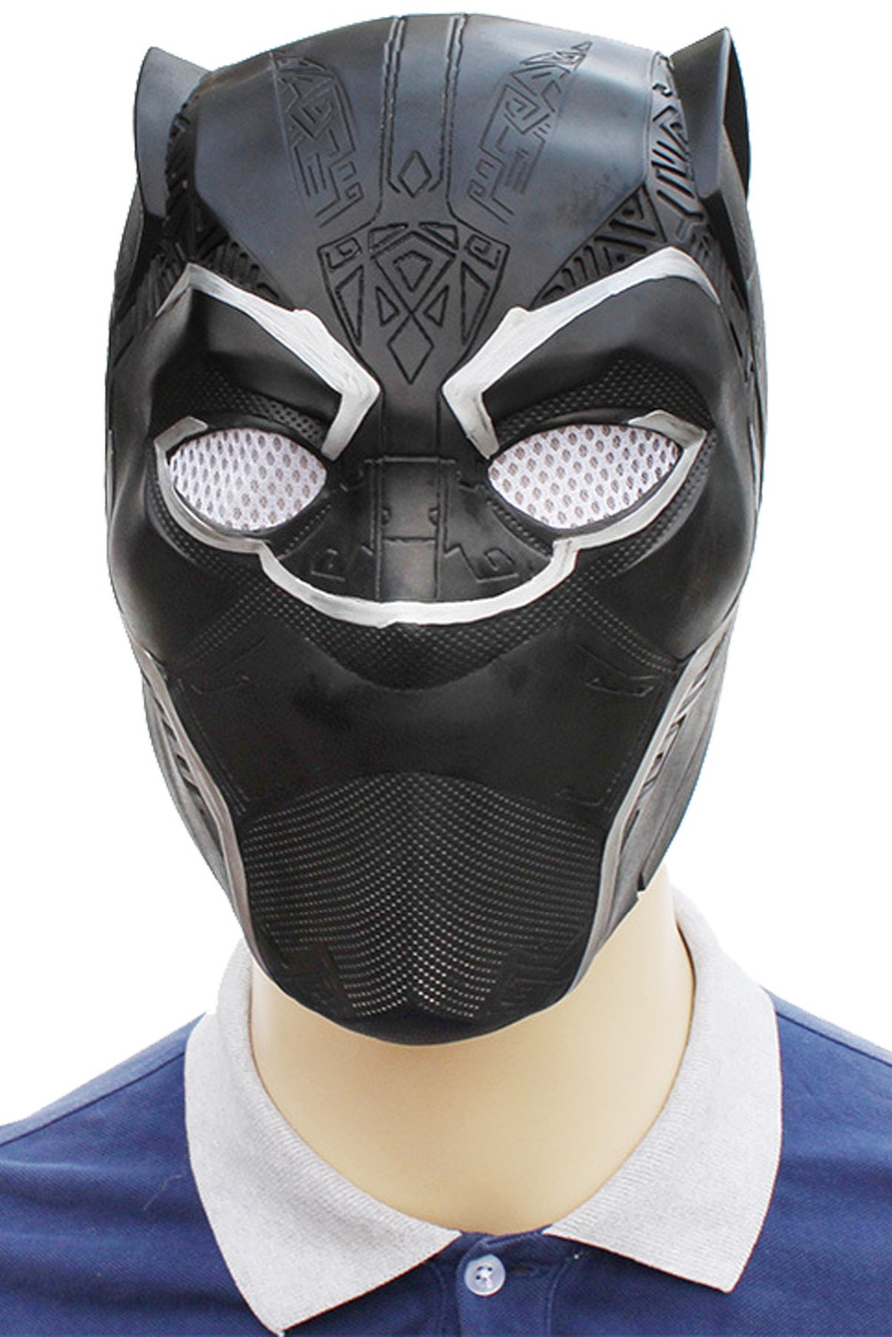 Movie Black Panther Mask Adult Latex Mask Cosplay Costumes Full Face Helmet Masks Halloween Masquerade Props